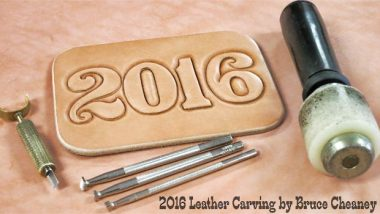 2016 Leather Carving by Bruce Cheaney