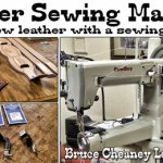 How to sew leather with a sewing machine Leathercraft Tutorial
