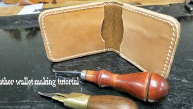 leather wallet making tutorial