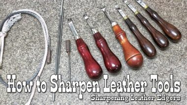 How to sharpen leather tools