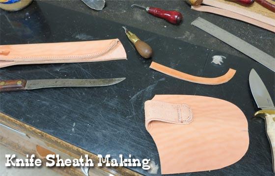 how to make a leather knife sheath pdf